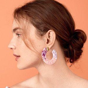 BaubleBar Style MultiColor Tortoise Hoop Earrings